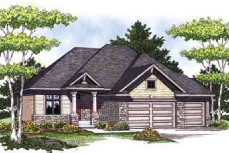 Craftsman Exterior - Front Elevation Plan #70-824