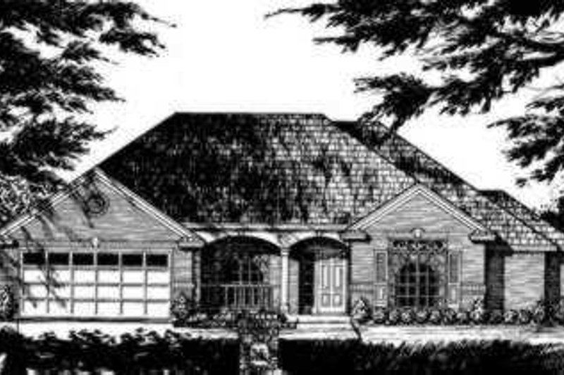 Traditional Exterior - Front Elevation Plan #40-266 - Houseplans.com