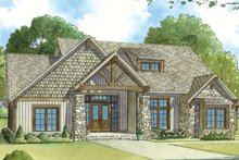 Ranch Exterior - Front Elevation Plan #17-3408