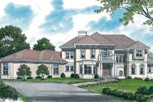 House Plan Design - Mediterranean Exterior - Front Elevation Plan #453-321