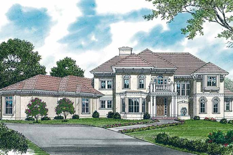 Dream House Plan - Mediterranean Exterior - Front Elevation Plan #453-321