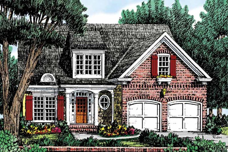 Country Exterior - Front Elevation Plan #927-730 - Houseplans.com