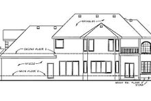 Home Plan Design - European Exterior - Rear Elevation Plan #20-1286