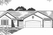 Traditional Style House Plan - 2 Beds 2 Baths 1435 Sq/Ft Plan #58-137 Exterior - Front Elevation