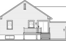 House Plan Design - Country Exterior - Rear Elevation Plan #23-2566