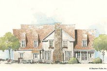 House Plan Design - Country Exterior - Rear Elevation Plan #429-197