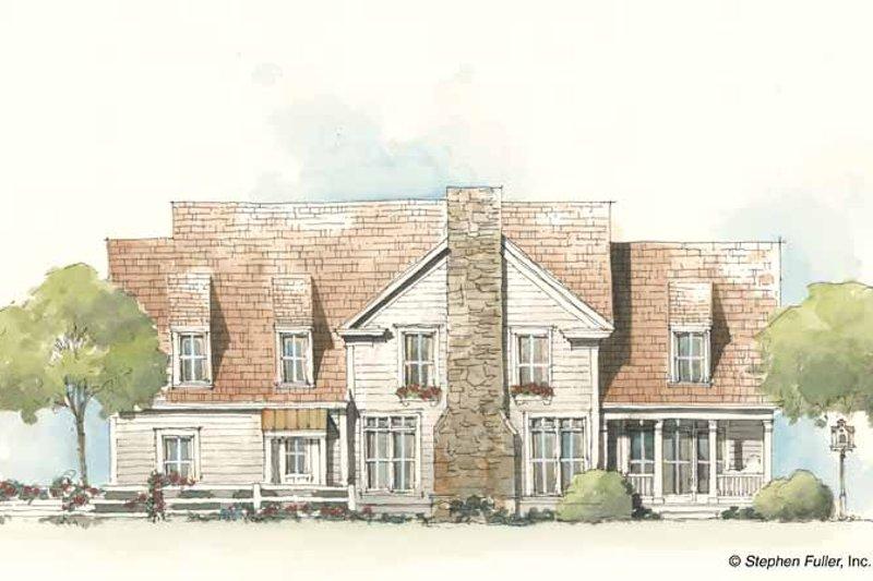 Country Exterior - Rear Elevation Plan #429-197 - Houseplans.com