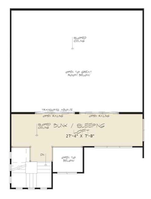Contemporary Floor Plan - Upper Floor Plan Plan #17-3393
