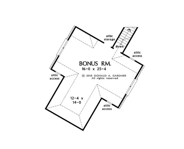Country Floor Plan - Other Floor Plan Plan #929-1006