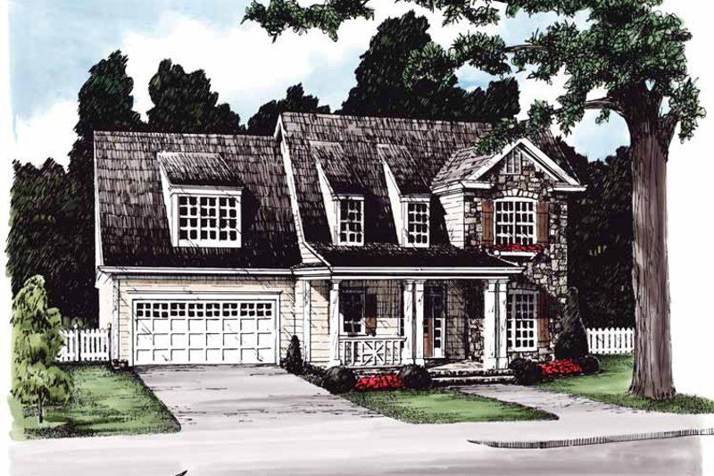 Country Exterior - Front Elevation Plan #927-611