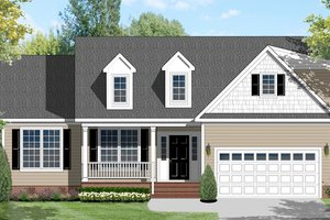 House Design - Ranch Exterior - Front Elevation Plan #1053-44