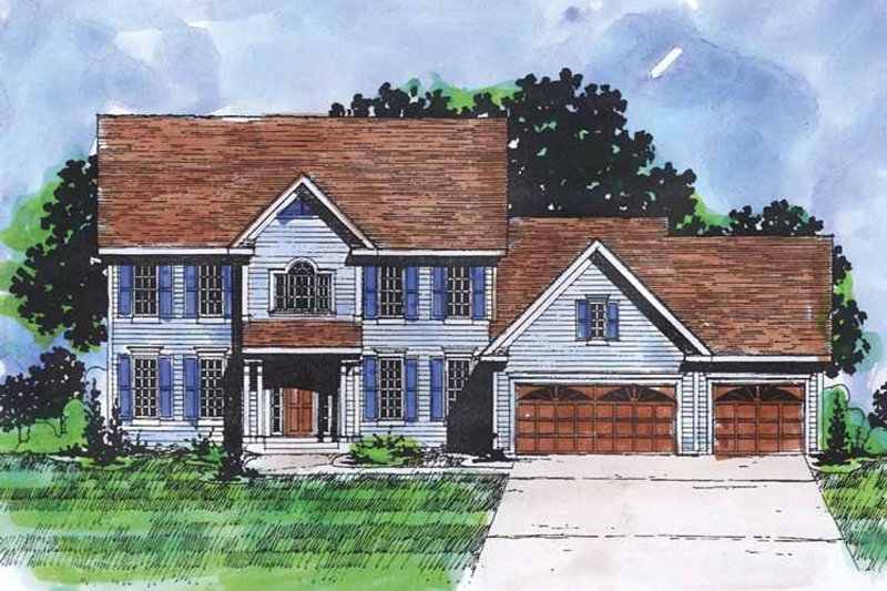 Classical Exterior - Front Elevation Plan #320-878
