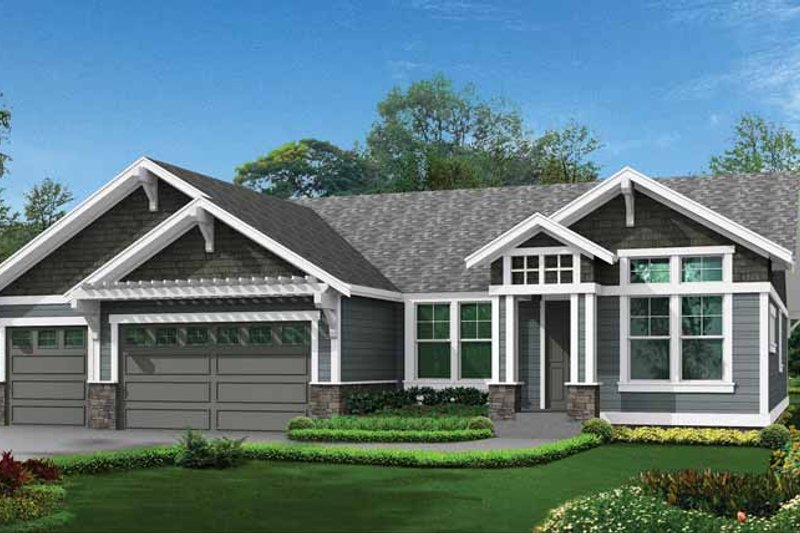 Craftsman Exterior - Front Elevation Plan #132-539