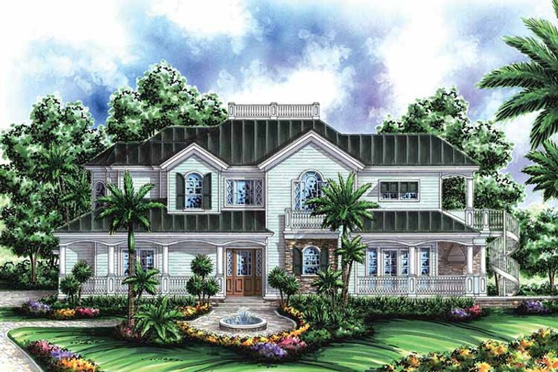 Southern Exterior - Front Elevation Plan #1017-53 - Houseplans.com