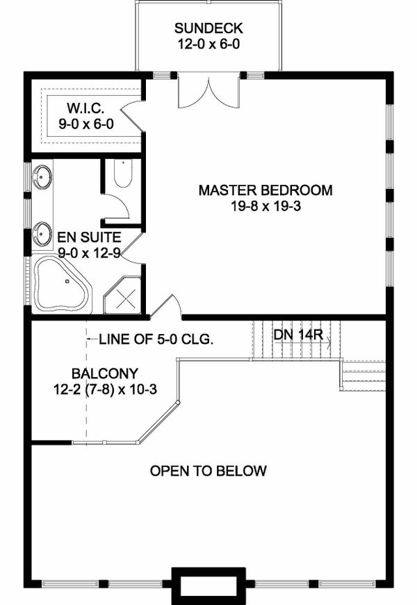 Contemporary Floor Plan - Upper Floor Plan #126-146