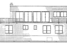 House Plan Design - Contemporary Exterior - Rear Elevation Plan #314-280