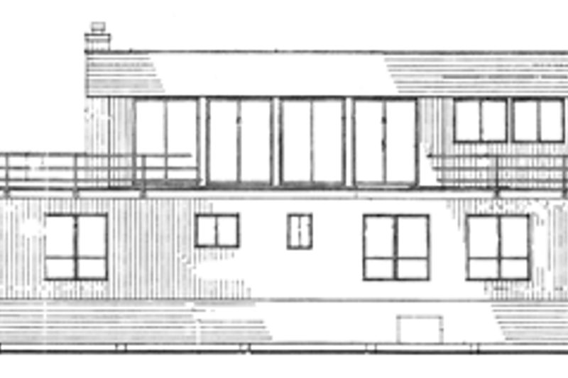 Contemporary Exterior - Rear Elevation Plan #314-280 - Houseplans.com