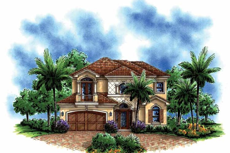 Mediterranean Exterior - Front Elevation Plan #1017-148