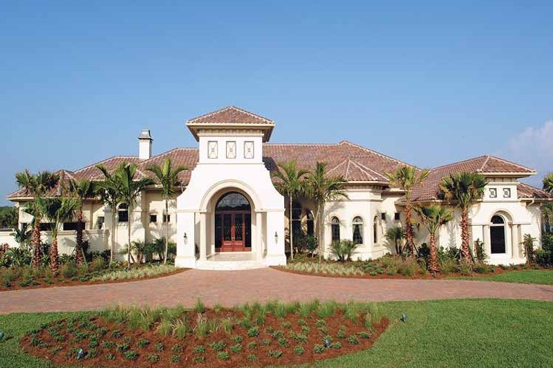 Dream House Plan - Mediterranean Exterior - Front Elevation Plan #930-330