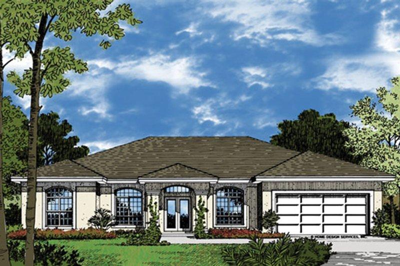 Architectural House Design - Mediterranean Exterior - Front Elevation Plan #417-592