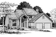 Traditional Style House Plan - 3 Beds 2.5 Baths 2262 Sq/Ft Plan #70-649 Exterior - Front Elevation