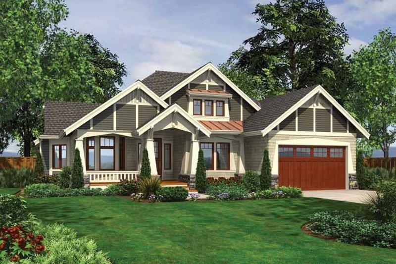 Ranch Exterior - Front Elevation Plan #132-533 - Houseplans.com