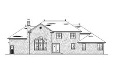 Home Plan - European Exterior - Rear Elevation Plan #5-462