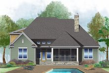 Ranch Exterior - Rear Elevation Plan #929-1012