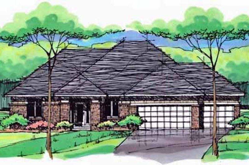 House Plan Design - European Exterior - Front Elevation Plan #51-998
