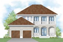 Southern Exterior - Rear Elevation Plan #930-401