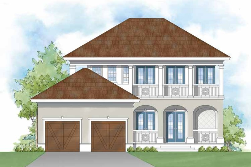 Southern Exterior - Rear Elevation Plan #930-401 - Houseplans.com