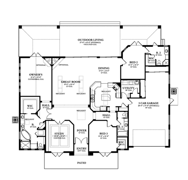 European Floor Plan - Main Floor Plan Plan #1058-52