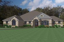 Mediterranean Exterior - Front Elevation Plan #120-235