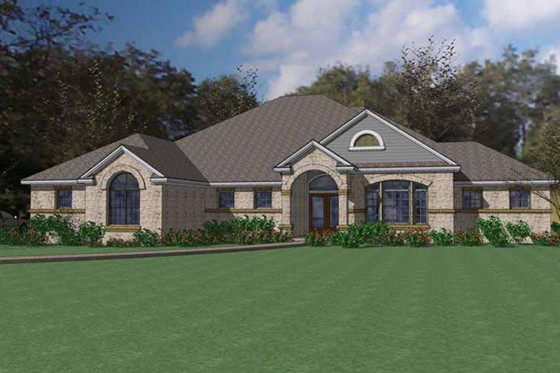 House Plan Design - Mediterranean Exterior - Front Elevation Plan #120-235