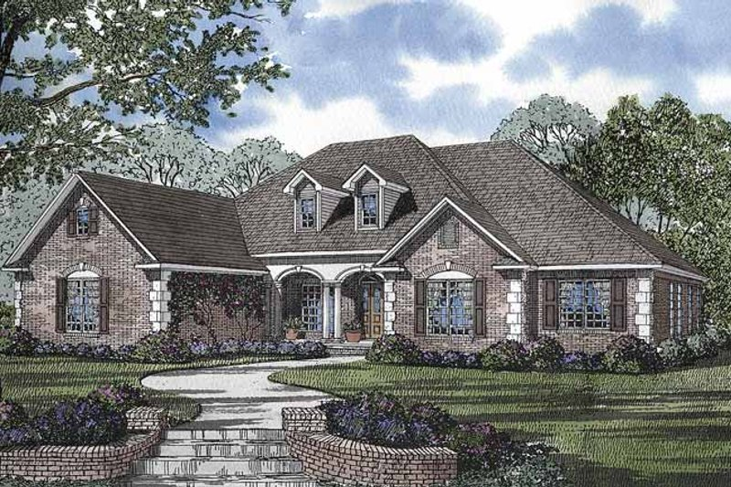 Country Exterior - Front Elevation Plan #17-2681 - Houseplans.com