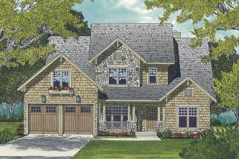 Dream House Plan - Craftsman Exterior - Front Elevation Plan #453-510