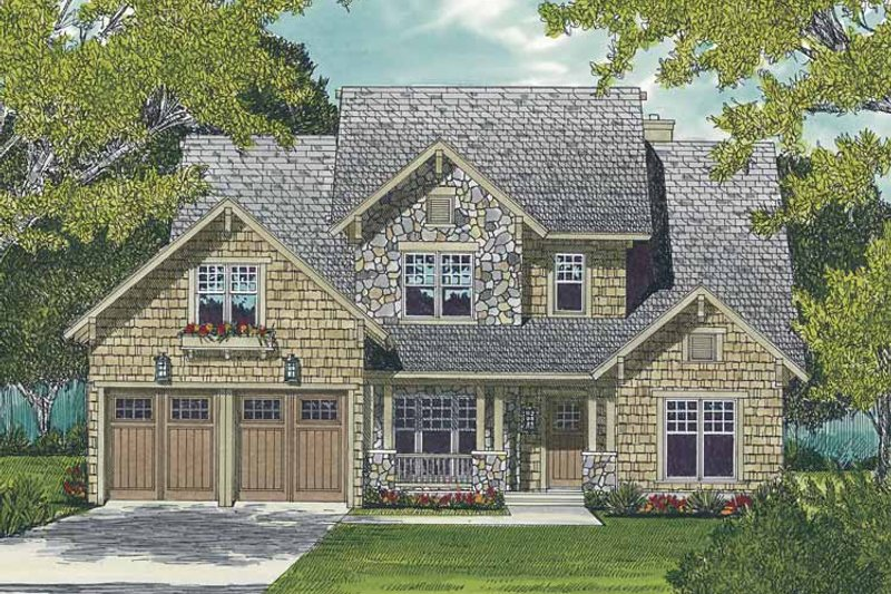 Architectural House Design - Craftsman Exterior - Front Elevation Plan #453-510