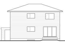 House Plan Design - Contemporary Exterior - Rear Elevation Plan #23-2586