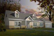 Colonial Style House Plan - 3 Beds 2 Baths 1526 Sq/Ft Plan #100-407 Exterior - Front Elevation