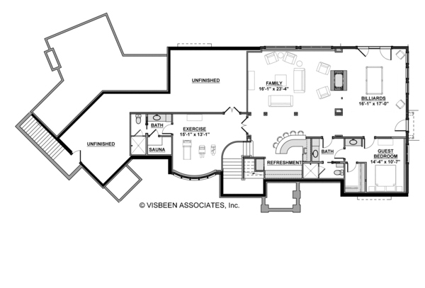 House Plan Design - European Floor Plan - Lower Floor Plan #928-267