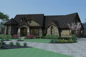 Home Plan - Mountain Lodge craftsman home by David Wiggins 2800 sft