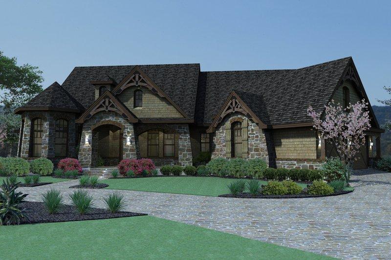 House Plan Design - Mountain Lodge craftsman home by David Wiggins 2800 sft