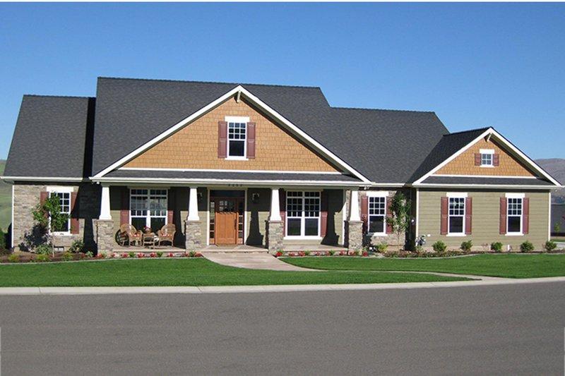 Home Plan - Craftsman Exterior - Front Elevation Plan #21-434