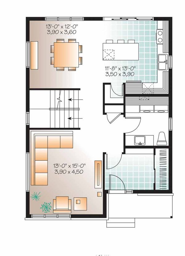 Contemporary Floor Plan - Main Floor Plan Plan #23-2553