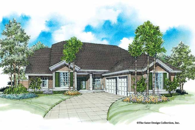 Architectural House Design - Country Exterior - Front Elevation Plan #930-26