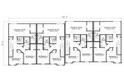 Traditional Style House Plan - 3 Beds 2.5 Baths 7504 Sq/Ft Plan #17-1174 Floor Plan - Upper Floor Plan