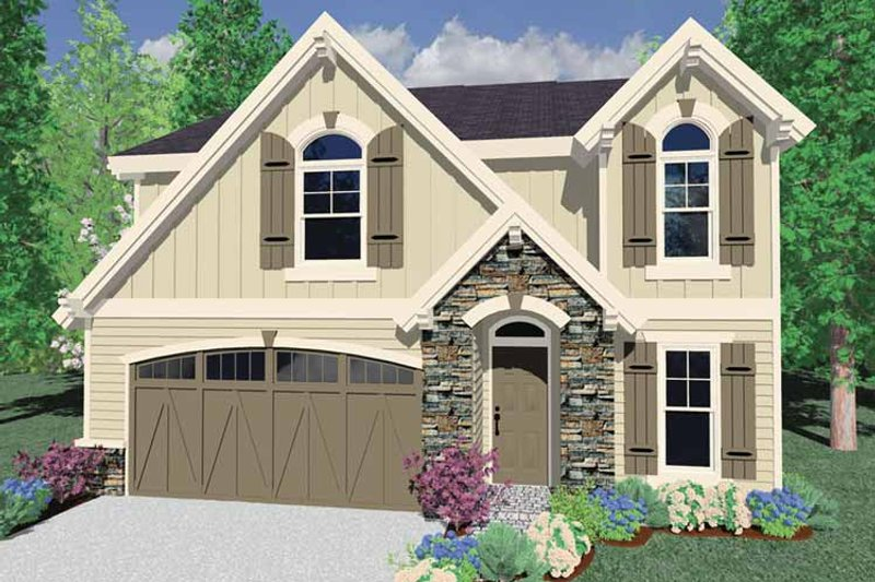 Traditional Exterior - Front Elevation Plan #509-284
