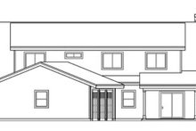 Country Exterior - Rear Elevation Plan #124-771