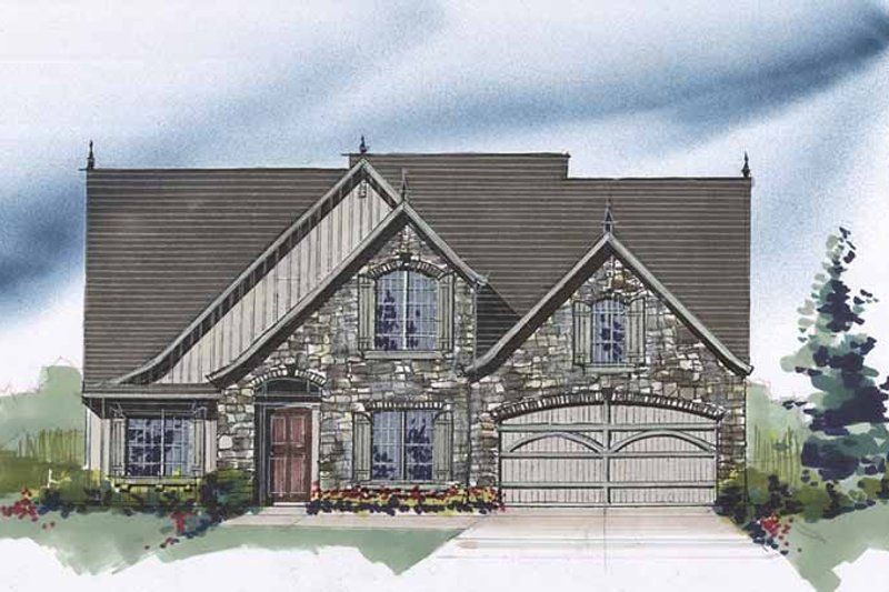 Traditional Exterior - Front Elevation Plan #509-304 - Houseplans.com