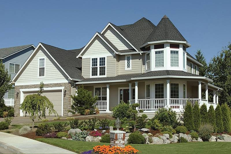 Architectural House Design - Front View - 2500 square foot Victorian home